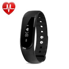 Fitness Tracker ,Pashion Bluetooth Heart Rate Monitor Watch Step Walking Sleep Counter Wireless Wristband Pedometer Sweatproof Sports Bracelet for IOS Android System. Vertical & Horizontal touch display, Gesture control, turn the wrist lit screen. Charge: USB port charging; Battery:60mAh li-polymer rechargeable battery; Standby time: 5-10 days; N.W.: 28g. Heart rate & activity tracker: resting/static and dynamic 2 kinds models. Calculate heart rate accurately by PPG sensor. Feature: Heart...