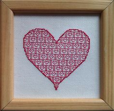 Simple free Valentine's hearts patterns. This one is for Blackwork, with a brief history and description.