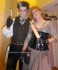 Coolest Sweeney Todd and Mrs. Lovett Couple Halloween Costume... This website is the Pinterest of costumes