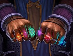 A wizard who only seems to have magical powers, in reality, he/she gets all of her spells from the rings on his/her hand.