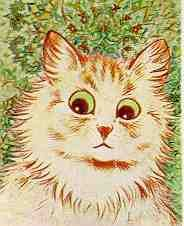 louis wain stage 1 schizophrenia. i love this kitty cat.