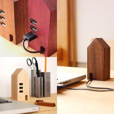 Hacoa Wooden USB Hub House_001