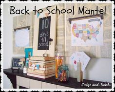 back to school mantel I Heart Nap Time | I Heart Nap Time - Easy recipes, DIY crafts, Homemaking