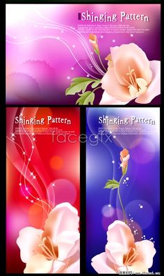 Beautiful fantasy flower background vector