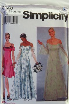 Simplicity 9125 Misses  Special Occasion Dress. Dress Sewing Patterns e44f739e5