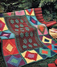 crochet blanket   Labores de Najma