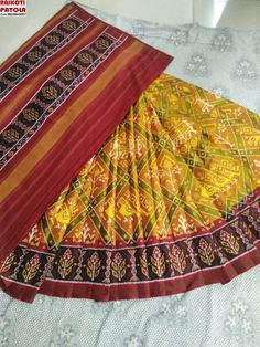 Rakotipatol Art is manfacture of traditional patola Silk sarees Cont/whatsup : 09824843007 Web: rajkotipatola.com Baby Dress Design, Pure Silk Sarees, Saree Wedding, Designer Dresses, Hand Weaving, Sari, Pure Products, Traditional, Luxury