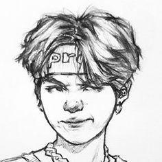 Kpop Drawings, Art Drawings Sketches, Sketch Drawing, Fanart Bts, Korean Art, Drawing Techniques, Art Inspo, Fan Art, Poses