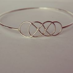Double infinity bracelet, can be made adjustable