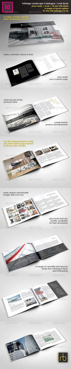 A4 Landscape Brochure/Look Book InDesign Template