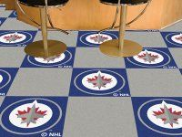 Everything Door Mats specializes in Winnipeg Jets nylon carpet and NHL vinyl backed carpet tiles. Diy Carpet, Carpet Tiles, Rugs On Carpet, Carpet Flooring, Carpets, Tile Covers, Carpet Installation, Color Tile, Luxury Vinyl