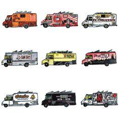 "3 Fish Studios — ""SF Food Trucks"" Print"