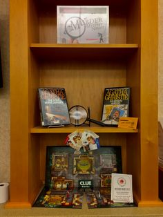 Clue Display for May Memorial Library's 2017 Murder Mystery Night