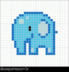 Doces Pontos: Elefantinho  18 x 18