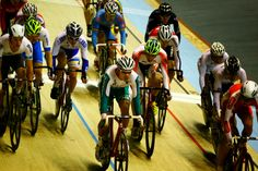 Cyclists compete during the UCI Cycling track World Cup Men's Madison final in Guadalajara, Mexico. New Zealand  won the gold medal in the event.