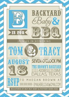 couples bbq baby shower invitation pink backyard bbq