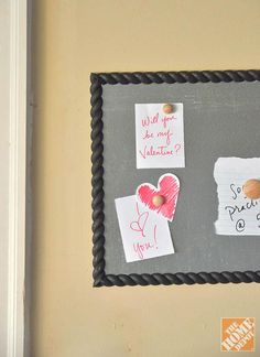 A DIY Magnetic Message Board: Perfect for leaving notes - especially love notes on Valentine's Day!