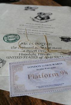 Your Very Own 'Lost in the Mail' Harry Potter Hogwarts Acceptance Letter (Includes a FREE Ticket on Hogwarts Express)