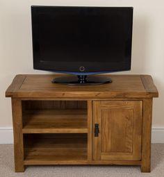 TV-Lowboard Hinson für TVs bis zu Alpen Home Dvd Cabinets, Dvd Unit, Denver Tv, Dresser Storage, Tvs, Hazelwood Home, Adjustable Shelving, Solid Oak, Rustic