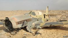The WWII Kittyhawk found intact in the Desert