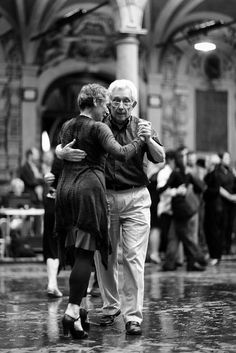 If I dance with or for you. That said I want someone who makes me want to dance. To tango even in public. To forget everyone else and just move Shall We Dance, Lets Dance, Paolo Conte, Old Couples, Elderly Couples, Dance Like No One Is Watching, Dance Art, Dance The Night Away, What Is Love