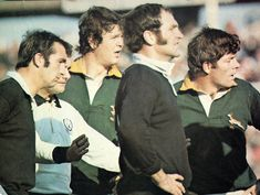 '76 - First test - The McLook rugby collection Back of the line-out was also an even contest with Du Plessis slightly taller than Leslie while Kirkpatrick had a slight height advantage over Ellis.