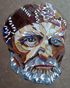 Mosaic artist Mitch Brookman