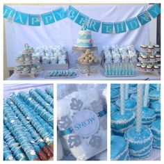 Frozen Birthday Tablescape by Blue Dolphin Designs #bluedolphindesigns
