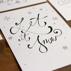 """Christmas - Set of 4 postcards """"Christmas"""" hand lettering - a unique product by Beiderhase on DaWanda, Diy Cards, Christmas Cards, Diy Crafts To Do, Christmas Night, Christmas Settings, Brush Lettering, Cool Words, Writing, Etsy"""