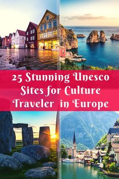 30 Astounding UNESCO Sites in Europe for The Cultural Traveler - 30 Astounding UNESCO Sites in Europe for The Cultural Traveler – Orange Wayfarer Travel Tips For Europe, Travel Destinations, Holiday Destinations, Budget Travel, Travel Plan, Travel Advice, European Destination, European Travel, Nightlife Travel