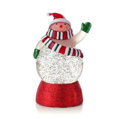 Hallmark Exclusive 2012 Snowman Snow Globe - Multi-Color Lights - #LPR2341 for only $24.99