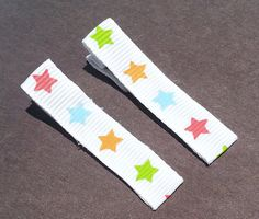 Colorful Stars Clip Set by VioletOrchidBoutique on Etsy, $1.50