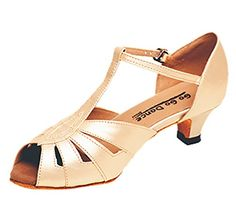 Tan Leather TStrap Ballroom Shoes 13 Heel ** Learn more by visiting the image link.