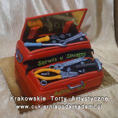 108. Tort z narzędziami dla mechanika. Cake with tools for mechanic.