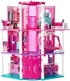 Barbie is finally moving in to her new Barbie Dream House and you're invited over! The Barbie Dream House from Mattel has 3 fun-filled stories to play in. Dreamhouse Barbie, Barbie Doll House, Barbie Dream House, Dream Doll, Little Girl Toys, Toys For Girls, Gifts For Girls, Kids Toys, Mattel Barbie
