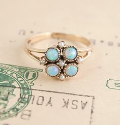 Opal and Pearl Cluster Ring, Erica Weiner