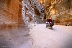 No trip to #Jordan is complete without visiting the ancient city of Petra. And the best way to first experience it is to walk along the bottom of this giant fissure (known in Arabic as a siq) in the sandstone mountains, to its most famous landmark and structure called the Treasury. For more on Petra, visit: http://flyseestay.com/see/jordan-petra-a-photo-essay/