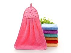 Cute Hand Towel Hang Kitchen Bathroom Soft Cloth Wipe Towel Cotton Quick-dry DER