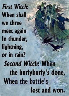 did the three witches push macbeth Source and activity 2  the three witches in 'macbeth'  how did shakespeare's audience view witches and witchcraft.