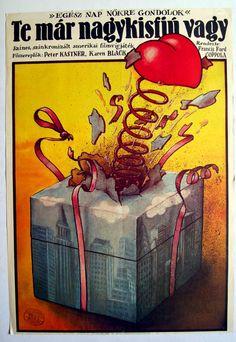 "Te már nagy kisfiú vagy (1966) ""You're a Big Boy Now""  Director: Francis Ford Coppola  Hungarian vintage movie poster Artist by:Koppány Simon"