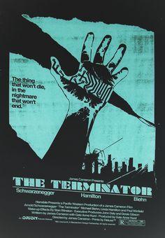 The Terminator minimalist movie poster by Ryan MacEachern