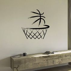 Decorate your home with this beautiful and affordable vinyl decal for your walls. The decals are easy to apply and make a room look elegant. With a paint-like appearance, these vinyl decals will compl (Basketball Drawings) Basketball Drawings, Basketball Tattoos, Basketball Bedroom, Basketball Wall, Basketball Shoes, Street Basketball, Basketball Doodle, Basketball Academy, Basketball Playoffs
