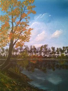 Kostenloser Malkurs für Acrylmalerei - Herbstbild, 30x40cm