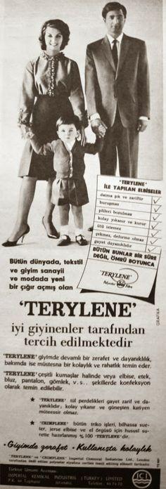 OĞUZ TOPOĞLU : terylene 1962 nostaljik eski reklamlar Vintage Advertisements, Ads, Great Leaders, Once Upon A Time, Nostalgia, Advertising, History, Books, Photography