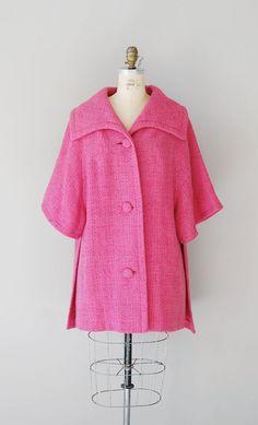 1960s Lilli Ann coat / 60s cocoon coat / vintage by DearGolden
