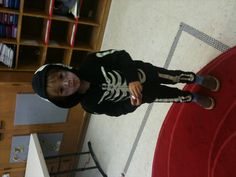 2012 skeleton costume for our son