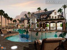 Villa Vetaga style luxurious mixed Victorian by Autaki - Sims 3 Downloads CC Caboodle