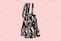 Cute lettering illustration by TSAPLYA on @creativemarket #lettering #graphic #design #creative #market #typography #calligraphy #illustration #creativemarket #valentine #day #love #valentines