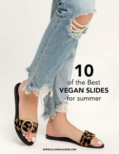 Too hot for shoes?? Try some comfy vegan slides! We found 10 great styles #veganshoes #vegans #veganstyle #veganaccessories #veganfashion #ethicalfashion #ethicalshoes #sustainablefashion #summerstyle #summershoes #summerfashion #slides Vegan Sandals, Vegan Shoes, Cork Sandals, Slide Sandals, Plastic Sandals, Ethical Shoes, Toe Band, Native Shoes, Vegan Fashion