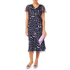 New Jacques Vert dress Silk 14 16 Navy Pink Grey spot Angel sleeve , Evening Dresses Uk, Prom Dresses, Angel Sleeve, Petite Dresses, Navy Pink, Silk Dress, Cold Shoulder Dress, Short Sleeve Dresses, How To Wear